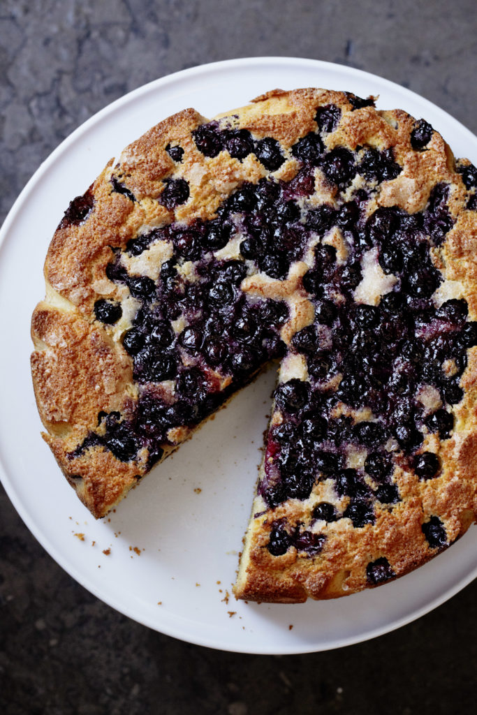 Blueberry Cornmeal Cake - Zoe Nathan