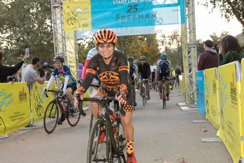Judith Feldman Riding in Tour de Summer Camps