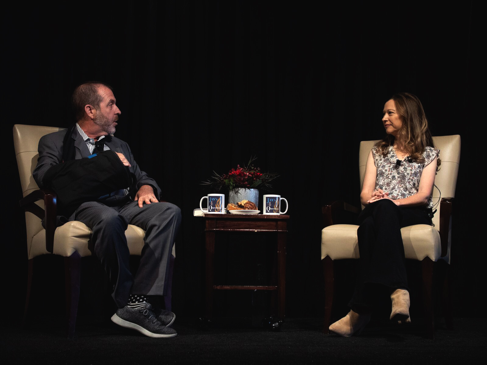 Lori Gottlieb and Jay Sanderson in deep conversation