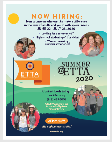 Summer @ ETTA - Now Hiring | HaMercaz | The Jewish Federation of Greater Los Angeles