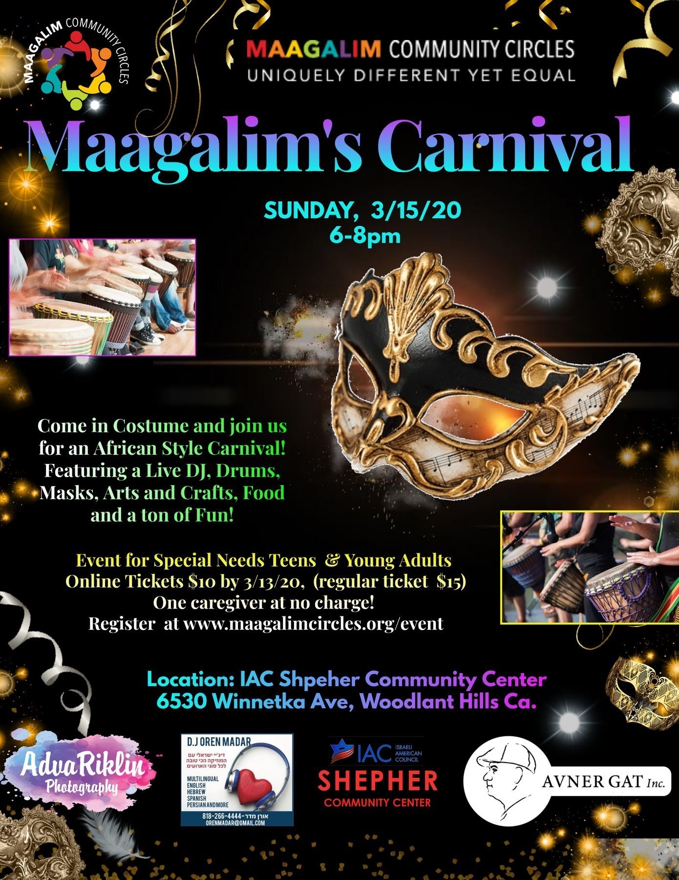 Maagalim Purim Carnival | HaMercaz | The Jewish Federation of Greater Los Angeles